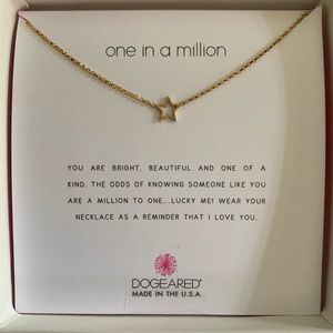 "Dogeared ""One in a Million"" Star necklace NWT"